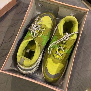 Fashion Nova neon green dad shoes